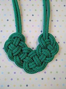 Náhrdelníky - Lanový náhrdelník zelený - 10572988_