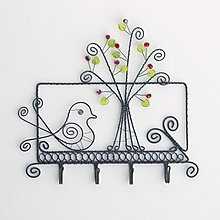 Dekorácie - vešiak so stromom - 10573490_