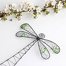 Dekorácie - vážka (Zelená) - 10573690_