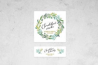 Papiernictvo - Svadobná etiketa - zeleň - 10572203_