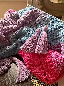 Náušnice - Náušnice fialové - 10572390_