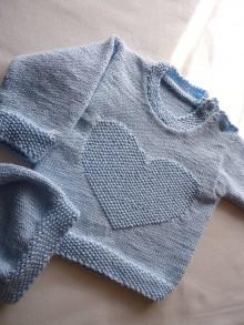 Detské súpravy - detská súpravička - modré srdce - 10574605_