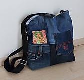 Veľké tašky - Jeansová taška AFRIKA - 10572975_