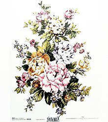 Papier - Ryžový papier na decoupage -A4-R376- kytica, kvety - 10573143_