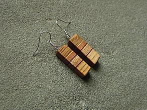 Náušnice - Drevené náušnice - 10572546_