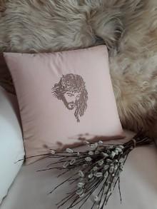 Úžitkový textil - Béžový Vankúšik (velka noc) - 10573914_