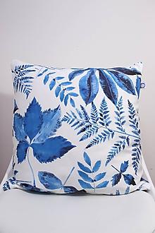 Úžitkový textil - Akvarelová obliečka - Blue Jungle III. - 10573236_