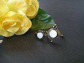 Prstene - Sada prsteňov/vintage/prírodná perleť - 10573555_