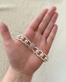 Náramky - Vintage perlový náramok - 10572918_