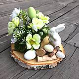 Dekorácie - Jarná dekorácia so zajačikom - 10573164_