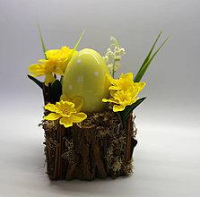 Dekorácie - Vajíčko a narcis - 10574061_