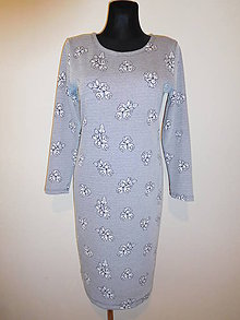 Šaty - Modrá je dobrá - 10572001_