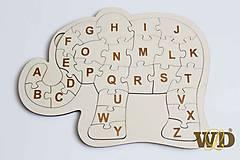 Hračky - Puzzle pre predškolákov Sloník - 10574789_