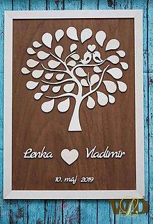 Papiernictvo - Svadobný strom do 60 ľudí - 10574761_