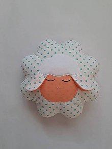 Hračky - Ovečka vankúšik (Biela) - 10574467_