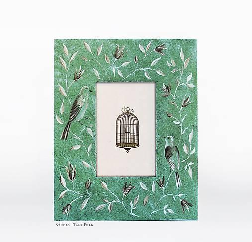 Ručne maľovaný rámček - Chinoizéria I