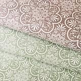Textil - kvetinové ornamenty, 100 % biobavlna, šírka 140 cm - 10574430_