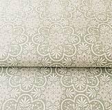 Textil - kvetinové ornamenty, 100 % biobavlna, šírka 140 cm - 10574435_