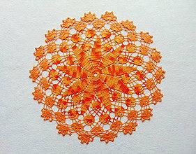 Úžitkový textil - Háčkovaná dečka Zapadajúce slnko - 10572104_