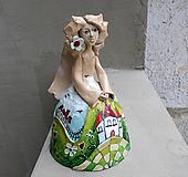 """Dekorácie - """"Horalka"""" - maľovaný zvonec - 10574179_"""