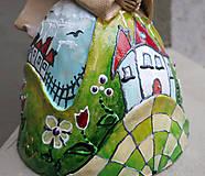"""Dekorácie - """"Horalka"""" - maľovaný zvonec - 10574181_"""
