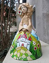 """Dekorácie - """"Horalka"""" - maľovaný zvonec - 10574183_"""