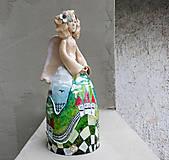 "Socha - ""Horalka 2"" - maľovaný zvonec - 10574216_"