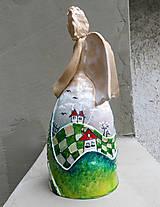 "Socha - ""Horalka 2"" - maľovaný zvonec - 10574227_"