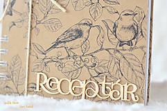 Papiernictvo - Receptárik (natural, birds) - 10574304_