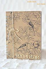 Papiernictvo - Receptárik (natural, birds) - 10574305_