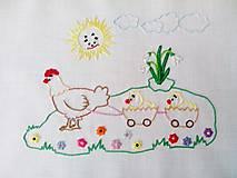 Úžitkový textil - Vyšívaný obrus - Veľká Noc - 10571579_