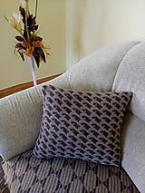 Úžitkový textil - Pletené vankúše - 10573899_