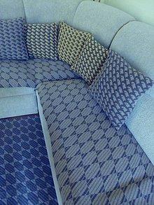 Úžitkový textil - Pletené deky - 10573967_