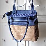 - Casual leather&denim bag - 10572851_