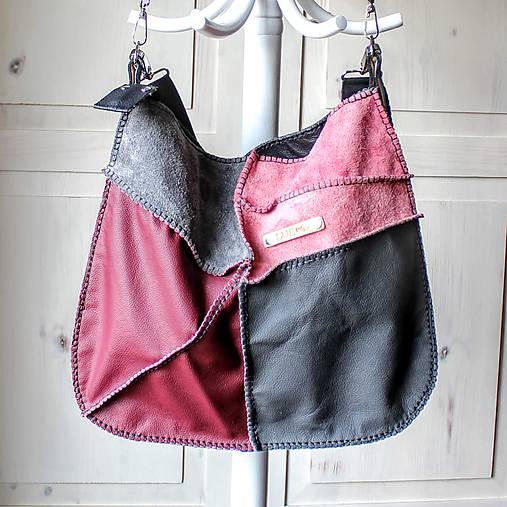 Casual leather *hobo* bag No.4