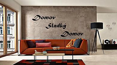 Dekorácie - Nápis na stenu Domov sladký domov (Modrá) - 10574074_
