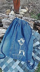 Batohy - Rifľový batoh / Vak - RECY s výšivkou - tulipán - 10572671_