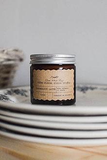 Svietidlá a sviečky - Sójová sviečka 130g v hnedom sklíčku - 10574660_