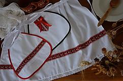 Iné doplnky - Svadobné podbradníky + zásterka SADA - 10573837_
