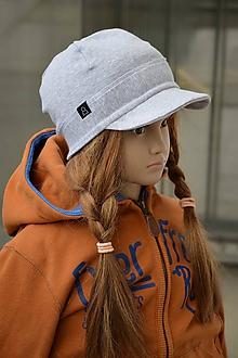 Detské čiapky - Šiltovka z jednej vrstvy svetlosivá - 10573993_
