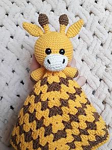 Hračky - Mojkáčik žirafka - žltohnedý - 10572634_