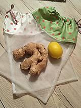 Úžitkový textil - Tylové vrecká - sada - 10574565_