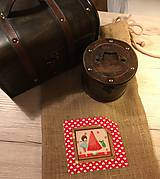 Úžitkový textil - Jutové vrecko väčšie - VIKI III - 10574629_