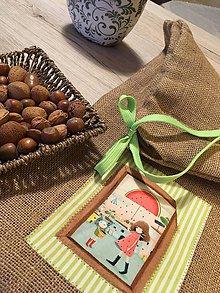 Úžitkový textil - Jutové vrecko väčšie - ROZÁLKA II - 10574382_
