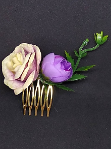 Ozdoby do vlasov - Mini fialkastý hrebienok - 10572373_