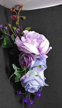 Ozdoby do vlasov - Jemný fialkasto modrasty hrebienok - 10573111_