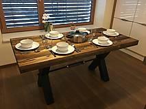 Nábytok - Stôl Industriálny štýl - 10574962_