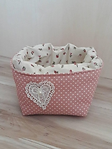 Košíky - Košíček ružovomarhuľkový - 10573409_
