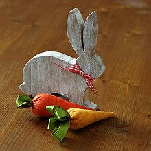 Dekorácie - drevený zajačik - 10573095_