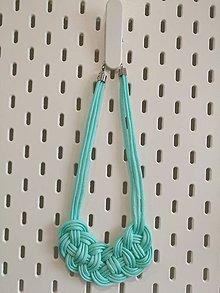 Náhrdelníky - Mentolových náhrdelník - 10572458_